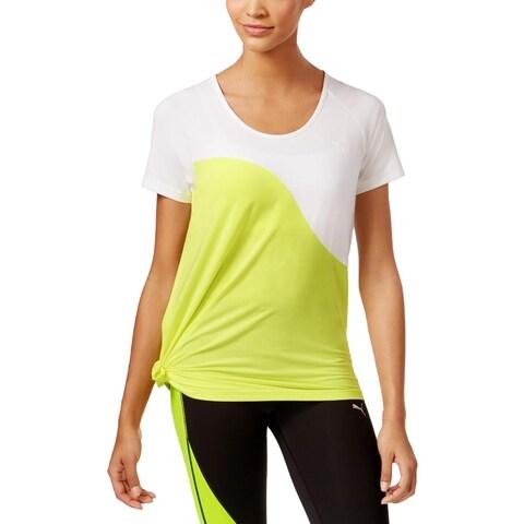 Puma Womens Pullover Top Colorblock Asymmetric