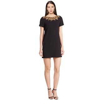 Alice & Olivia Inara Sequin Embellished Short Sleeve Cocktail Evening Dress - 2