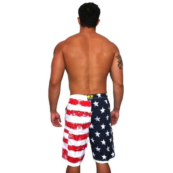 Men/'s American USA Flag Stars Stripes July 4th Swim Board Short Trunks Swimwear