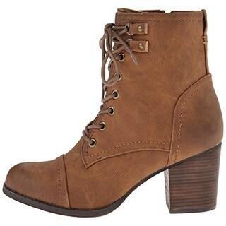 Madden Girl Women's Westmont Heeled Combat Boots