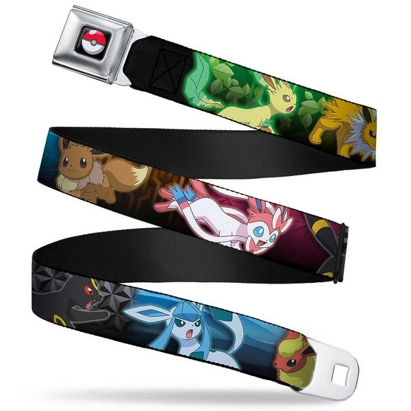 Pok Ball Full Color Black Eevee Evolution Action Poses Type Scene Multi Seatbelt Belt