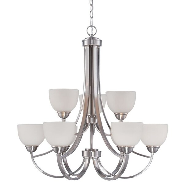 Millennium Lighting 2189 Camden 9 Light 2 Tier Shaded Chandelier
