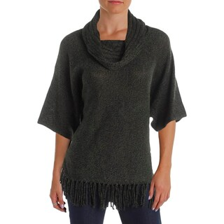 NY Collection Womens Pullover Sweater Fringe Elbow Sleeves (2 options available)