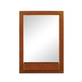 """DecoLav 9745 22"""" Solid Wood Mirror with Integrated Storage Shelf"""