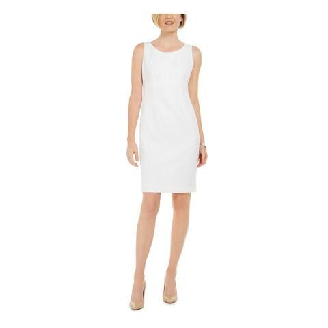 KASPER White Sleeveless Above The Knee Dress 6