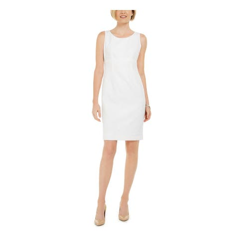 KASPER White Sleeveless Above The Knee Dress 4