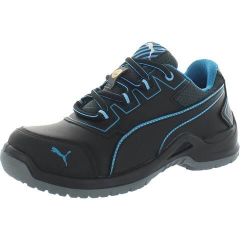 Puma Womens Niobe Work Shoes Leather Steel Toe - Black/Blue