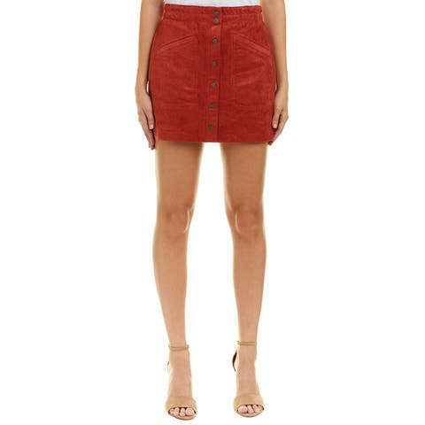 Bcbgmaxazria Aiden Suede Mini Skirt