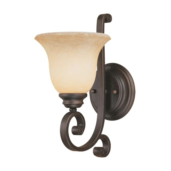 Millennium Lighting 1221 Oxford 1 Light Indoor Wall Sconce Rubbed Bronze N