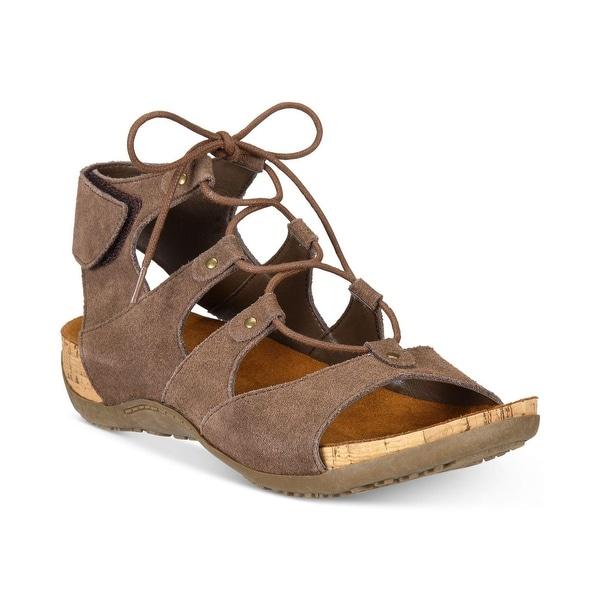 Bearpaw Womens Jodie Suede Open Toe Casual Gladiator Sandals