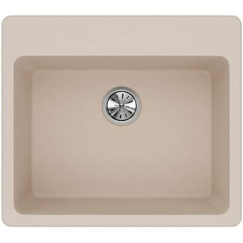 "Elkay ELG2522 Quartz Classic 25"" Drop In Single Basin Quartz Composite"