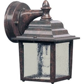 Quorum International Q793 1 Light Outdoor Wall Sconce with Clear Water Glass Shade