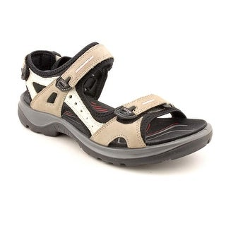 Ecco Offroad Yucatan Sandal Women Open-Toe Leather Ivory Sport Sandal