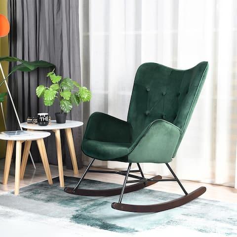 Carson Carrington Idbyn Velvet Rocking Chair