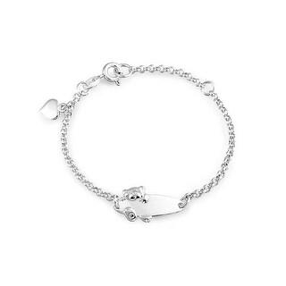 Bling Jewelry Teddy Bear 925 Sterling Silver Baby ID Bracelet 5in
