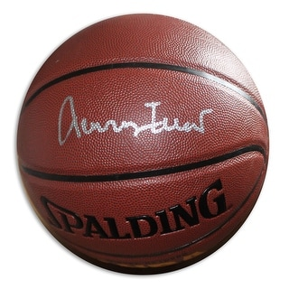 Jerry West Autographed IndoorOutdoor Basketball