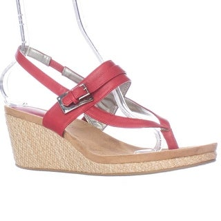 SC35 Jodii Wedge Sandals - Rouge