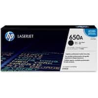 HP 650A Cyan Original LaserJet Toner Cartridge (CE270A)(Single Pack)