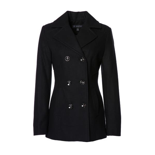Womens Double Breasted Peacoat - Overstock - 17761513