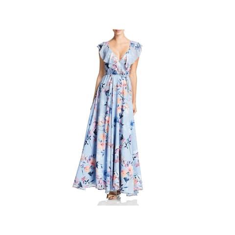 Yumi Kim Womens Wrap Dress Floral Ruffled - Hudstone