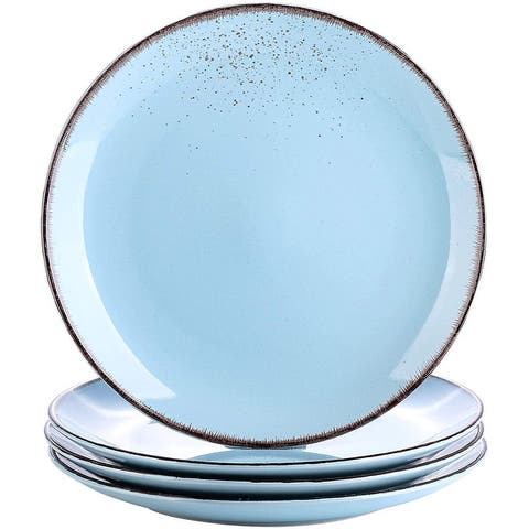 vancasso Navia 4 Pieces Dinner Plate Set Ceramic Sky Blue 10.5 inch - 8' x 10'