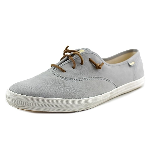 Keds Ch Washed Round Toe Leather Tennis Shoe