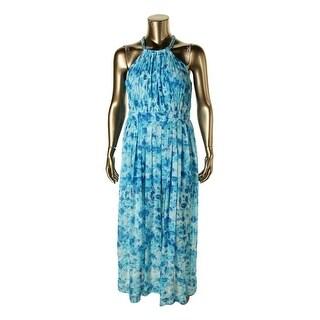 Calvin Klein Womens Chiffon Printed Maxi Dress - 12