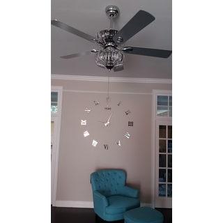 Kyana 6-light Crystal 5-blade 52-inch Chrome Ceiling Fan (Remote Optional)