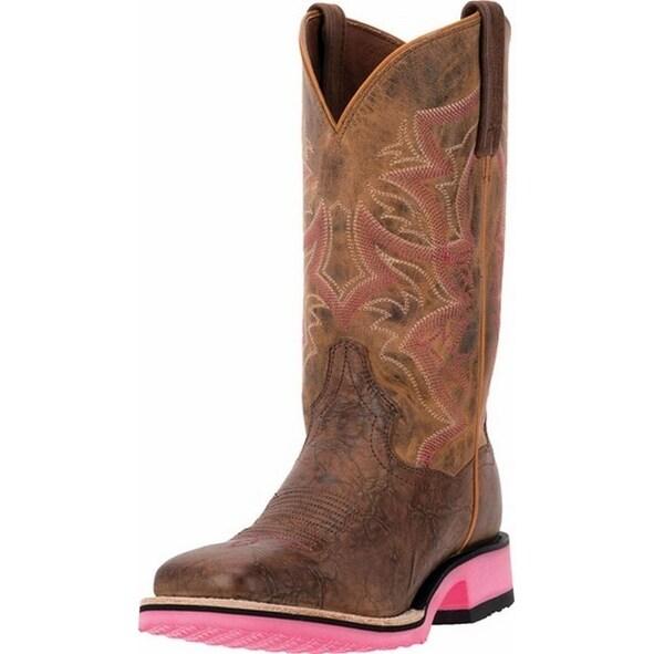 "Dan Post Western Boot Womens 11"" Serrano Diamond Tan Bay Apache"