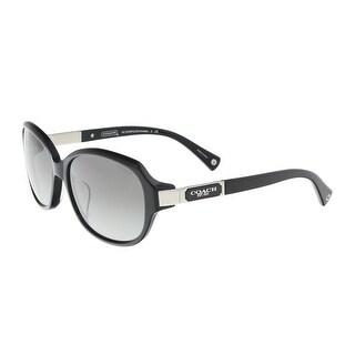 Coach HC8039F 500211 Black Square Sunglasses - 57-15-130