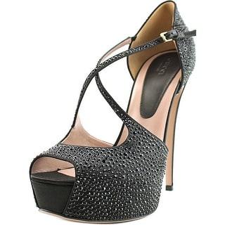 Gucci lili Open Toe Canvas Platform Sandal