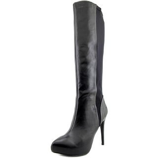 Charles By Charles David Farrah Women Pointed Toe Leather Black Knee High Boot