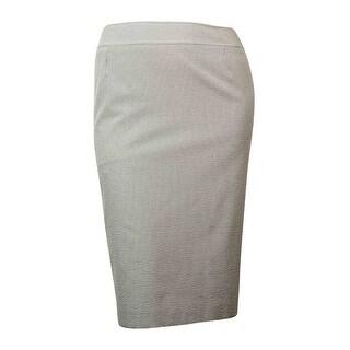 Tahari Women's Seersucker Pencil Skirt - NAVY/WHITE