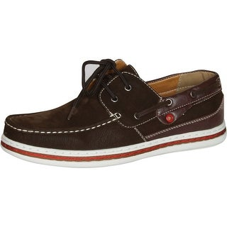 J's Awake Mens Billy-12 Lace Up Driving Moccasins Boat Shoes