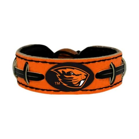 Oregon State Beavers Team Color NCAA Gamewear Leather Football Bracelet