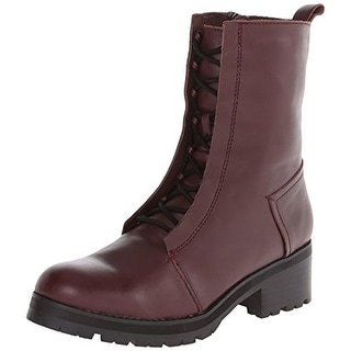 Kelsi Dagger Womens Hoyt Combat Boots Leather Mid-Calf