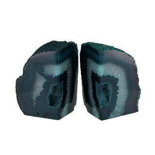 Polished Green Brazilian Agate Geode Bookends 4-7 Pounds