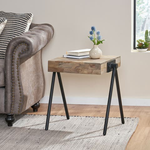 Gurley Mango Wood Side Table by Christopher Knight Home
