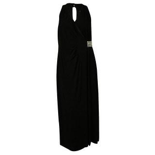 Spense Women's Embellished Side Ruched Dress
