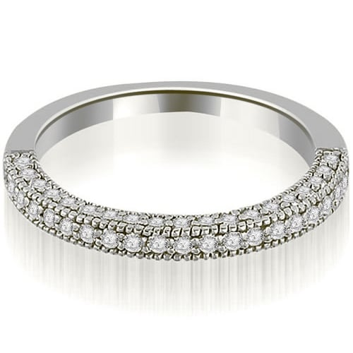 0.50 cttw. 14K White Gold Round Cut Wedding Band