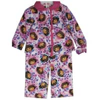 Nickelodeon Baby Girls Pink Dora The Explorer Heart Print 2 Pc Pajama Set 12-18M