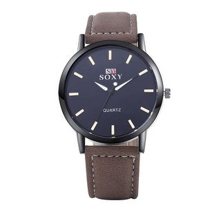 Brown Faux Leather Watch Onyx Covering - Chestnut