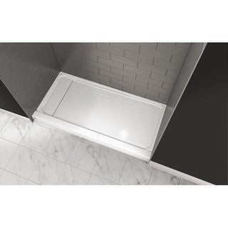 "Jacuzzi CAT6032SLXXXXW Catalina 60"" X 32"" Rectangular Shower Pan with Single, Low-Barrier Threshold with Left Drain"