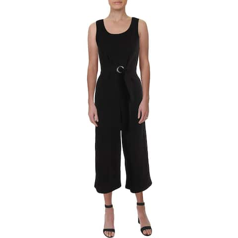 Almost Famous Womens Juniors Jumpsuit Solid Cropped