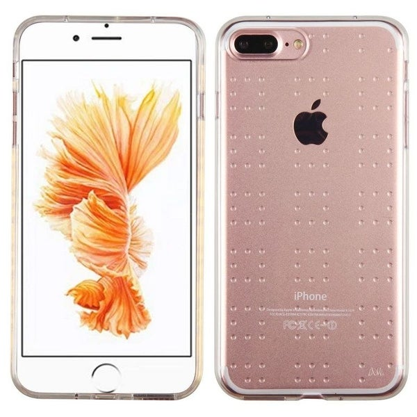 Insten Clear Rubber TPU Candy Cover Skin Case For Apple iPhone 7 Plus