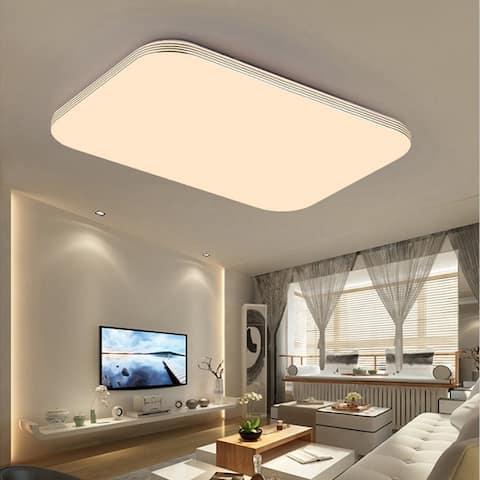 Square 18W 1400LM Energy Efficient LED Ceiling Lights Modern Flush Mount Fixture Lamp Lighting for Kitchen Bathroom Dining Room