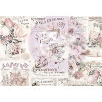 "Lavender Frost Journaling Cards Pad 4""X6"" 45/Pkg-15 Designs/3 Each"