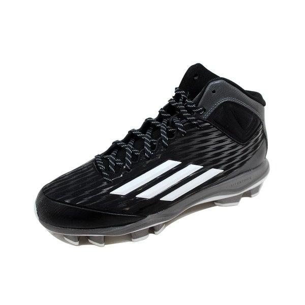 Adidas Men's Power Alley 3 TPU Mid Black/White-Tech Grey S84714 Size 9.5