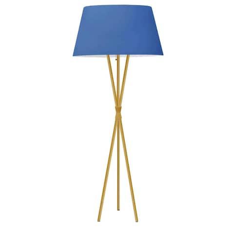 Dainolite Gabriela 1 Light Transitional Aged Brass Luxury Modern Tripod Floor Lamp