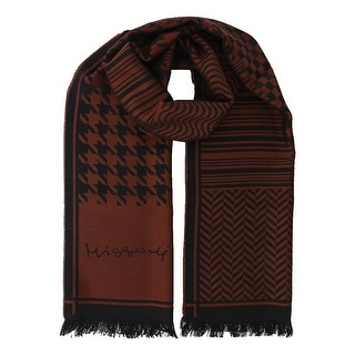 Missoni SC12WOU5857 0003 Rust/Black 100% Wool Scarf